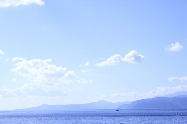 大きな海とすんだ空