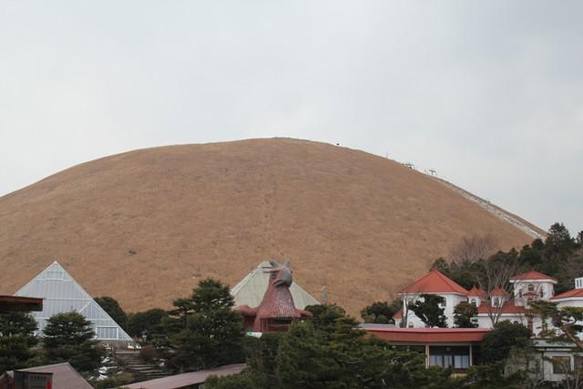 寒空の大室山