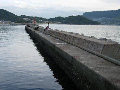 王の下地区の防波堤