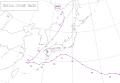 1968年台風7号経路図