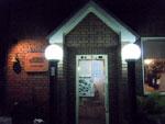 朝霞「海」の玄関