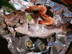 鯛の焙烙焼き