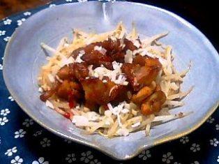 鶏のピリ辛ポン酢醤油
