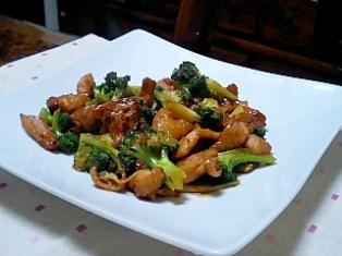 鶏とブロッコリのピリ辛オイスターソース