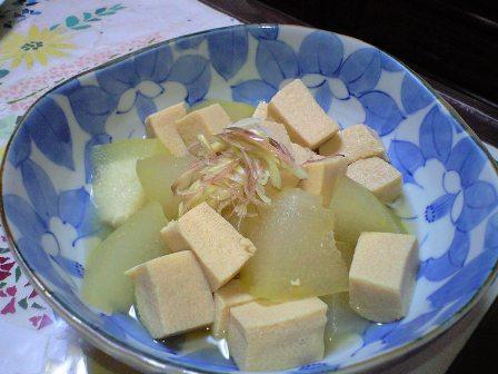 冬瓜と高野豆腐の煮物