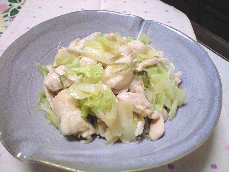 キャベツと鶏のサラダみたいの