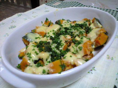 ツナかぼちゃのチーズ焼き