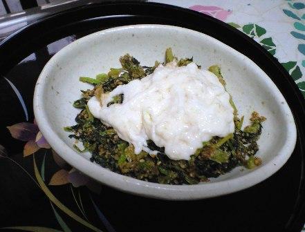 小松菜の胡麻和えwith山芋