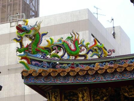 関帝廟屋根