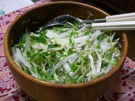 白菜と水菜の中華サラダ