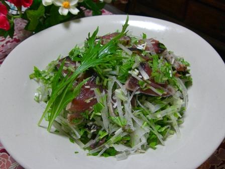 中華風カツオのたたきサラダ