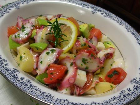 タコ&芋's&トマトのさっぱりサラダ