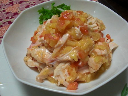 鶏のパナップルトマソース