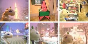 札幌のテレビ塔と時計台