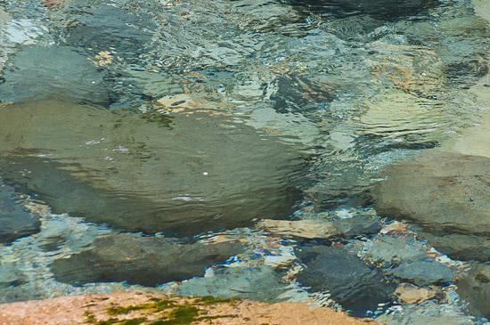 阿寺渓谷透明な青
