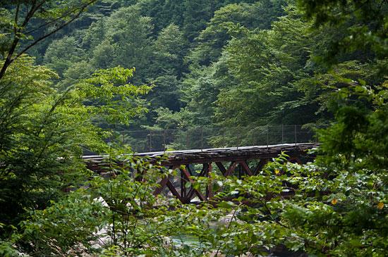 阿寺渓谷森林鉄道の跡