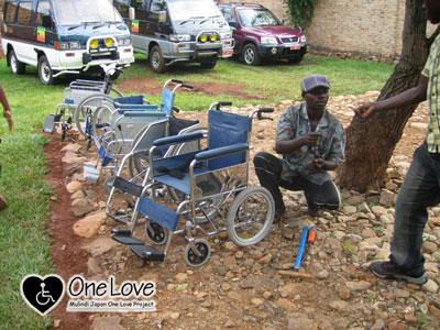 ブルンジ車椅子修理