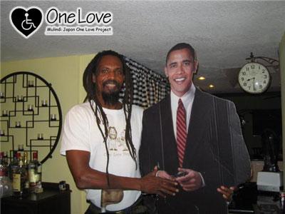 オバマ大統領握手