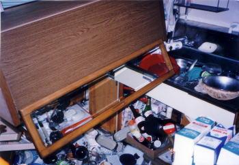 震災時の自宅キッチン