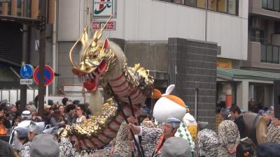 東京マラソン 龍の舞い