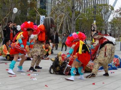 富山県の獅子舞の競演会