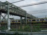 北から見た陸橋(跨線橋)
