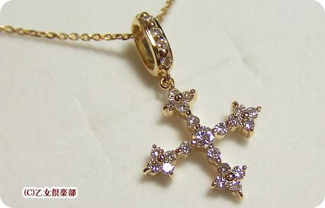 Avaron K18ゴールド×ダイヤモンド×クロスペンダント ARPEL