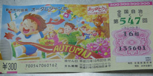 宝くじ1万円