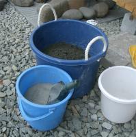セメントと砂を1対3