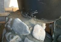 炉壁と浴槽の接合部