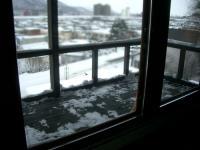 ベランダ除雪後