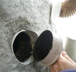 煙道メンテ孔2を開ける