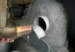 煙道と煙突の接合部