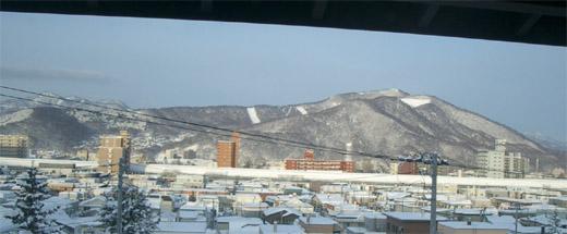 ベランダからの雪景色