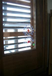 ベランダドアの室外温度計