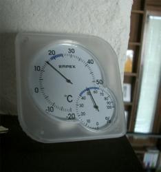 朝の室内温度