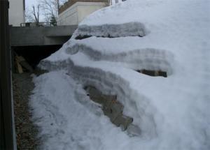 東側のり面の石積み-初冬