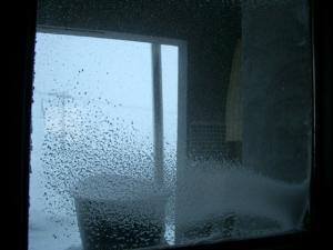 吹雪の露天風呂