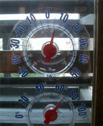 朝6時の気温は6度