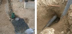 有孔管の排水試験