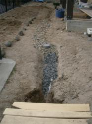 有孔管を埋設