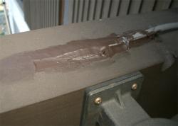 ゴム材で防水