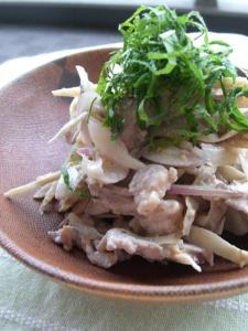 新ごぼうと豚肉のサラダ