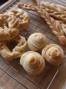 天然酵母ぼの折込みパン