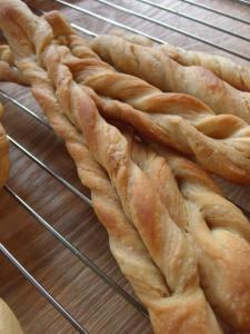 天然酵母の折込みパン1