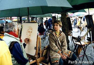 テルトル広場 絵描き