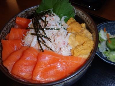 4日目 海鮮丼 サーモン