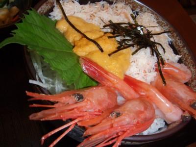 4日目 海鮮丼 甘エビ