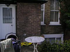 our flat front door