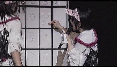 8を書く佐紀ちゃん。